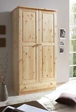 Armoire commode dressing MORITZ 2 portes Pin naturel