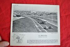 Planche photographique - L'autoroute Sud de PARIS (1960 Citroën 2CV autocar 4CV)