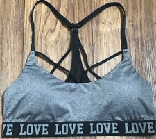 e4a3773cde567f No Boundaries Heather Gray Sexy Bonded Bralette With Mesh Back NWOT Size  Large