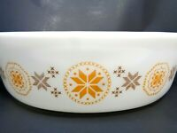 VINTAGE 1963-1967 PYREX OVAL 2-1/2 QT CASSEROLE BAKING DISH TOWN & COUNTRY #045
