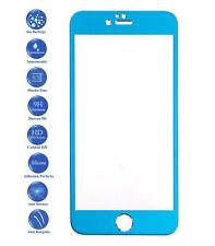 Tempered glass screen full protector film for Apple Iphone 6 Plus Color Blue
