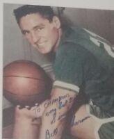 bill sharman signed 8x10 autographed photo boston celtics nba hof hall of fame
