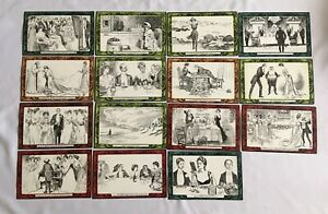 Vintage Victorian Postcards C. D. Gibson's Drawings Excellent Condition Job Lot