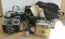 Old Vintage Camera Lot Collection Brownie Fiesta Ansco Minolta Ricoh Lens Japan