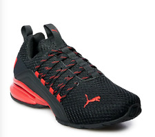 NEW PUMA Axelion Men's Training/ Running Shoes Szs 11.5M, 12M, 13M Black/Red
