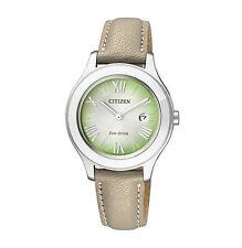 Runde Quarz-(Solarbetrieben) Armbanduhren für Damen