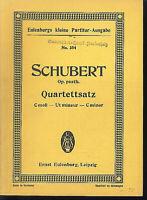 Schubert : Quartettsatz - c-moll Op. posth. ~ Studienpartitur