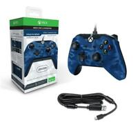 PDP Wired Xbox One S X & Windows Controller Blue Camo NEW & SEALED