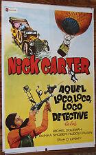 Used Cartel de Cine  NICK CARTER AQUEL LOCO DETECTIVE  Vintage Movie Film Poster