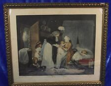 """Großer Farbstich, Multiple,  """"W. Ward"""" A visit to the child and nurse"""