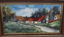 "H.Coune ""Dorfstrasse"" Öl/Leinen, gerahmt, RG 64x113 cm  (199/12053)"