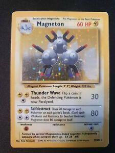 Magneton 9/102 Base Set Holo Rare Edition 1999 Pokemon Card