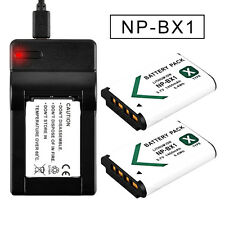 2x1450mAh Battery+Charger For Sony NP-BX1 HDR-AS30 CX240 DSC-RX100 HX400 UK FAST