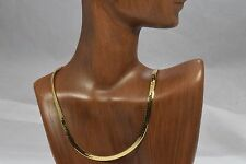 "Women's Luxury Herringbone Link 14k Yellow Gold Chain Necklace SAK 18.25"" Length"