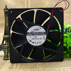 1pc ADDA ADN512UB-A91 135mm 13525 12V 0.44A 2-wire Double Ball Cooling Fan