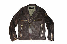 Replay Distressed Leather Jacket Size XL 100 Authentic