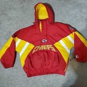 Vtg Kansas City Chiefs Starter Proline Jacket Pullover Sz XL NFL Football Champs
