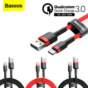 Baseus Braided USB Type C QC3.0 Fast Charging Cable for Samsung Galaxy S8 S9+