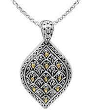 Devata Dragon Skin Signature 925 Sterling Silver 18K Gold Necklace DHR3153TT