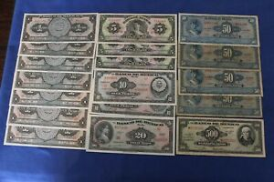 MEXICO LOT: 18 different (date) NOTES 1948 - 1977 :) --> see many more auctions
