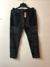 New Abercrombie Fitch Mens  Active Tapered Black Camo Sweatpants--Large