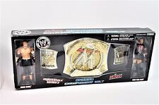 WWE Raw Spinning Championship Belt Figures Cena Van Dam RARE World Wrestling