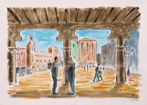 Llop - Reus, mascaretes al Mercadal#3 - acrílic original 41x30
