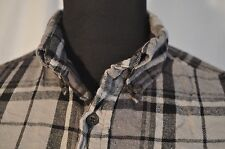 Vintage st john's bay grey flannel check western shirt en taille m