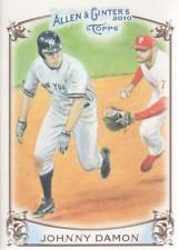 2010 Topps Allen & Ginter Baseball Sketches #AGHS-6 Johnny Damon NY Yankees