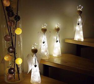 Engel basteln Bastelset Dekofigur Figur Bastelanleitung  LED Licht Lichterkette