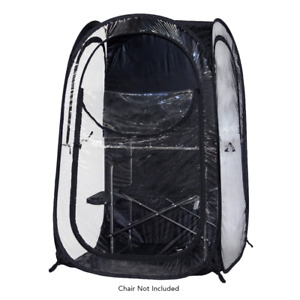 InstaPod Under the Weather Stay Warm & Dry Weather Pod Durable Pop UP, Black, XL