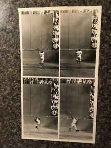 """1954 Willie Mays """"the catch"""" composite photo World Series N.Y. Giants"""