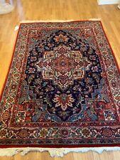 Vintage Karastan wool rug Navy Heriz -  c. 6' x 9'