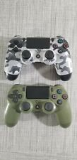 2 Authentic Sony Playstation 4 Dualshock PS4 Controllers - Camo & Green