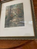 "Antique Hand-Colored Photograph by Fred Thompson  ""Stony Brook"""