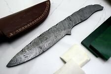 Damascus Steel Blank Blade With Scales and Scabbard For Knife Making (SBB-15)