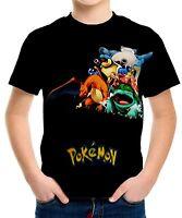 New Pokemon Boys Kids T-Shirt Tee Size 3 4 6 8 10 12