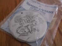 WENDELL AUGUST ORNAMENT SLEIGH RIDE METAL GIFTWARE IN ORIGINAL BOX AND PACKAGE