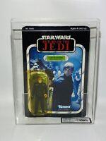 Rare Vintage Star Wars Luke Skywalker BLUE Lightsaber Carded Figure MOC UKG 70