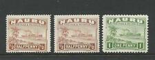 Nauru 1924 Views 2 x ½ d & 1d Hinged Mint