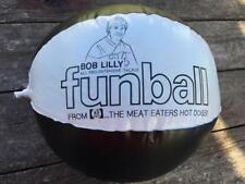 RARE Vintage BOB LILLY Dallas Cowboys Rath Hot Dogs Blow Up Ball Promo ADV.