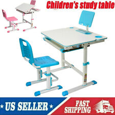 """32X24"""" Student Study Desk for Children Desk Study Table &Chair Adjustable Height"""