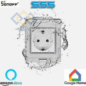 Sonoff DOMOTICA Presa Intelligente Da Esterno S55 IP55 SplashProof GIARDINO CASA