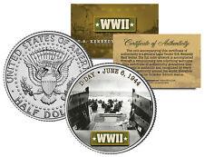 World War II D-DAY INVASION 1944 JFK  Kennedy Half Dollar US Coin