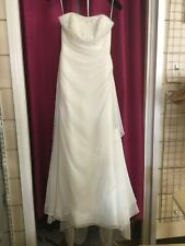 Mori Lee Strapless Bridal Gown By Madeline Gardiner. Size 10. Embellished Bodice