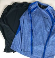 Mens Long Sleeve Shirts Lot Of 2 SZ S/M Dri-Fit Running Reebok Weatherproof Gym
