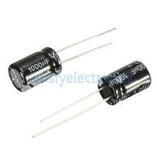 50Pcs NEW 1000uF 10V 105°C Radial Electrolytic Capacitor 8x12mm