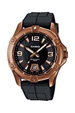 Casio Collection Armbanduhr Edelstahl Rosegold Schwarz Datum MTD-1062-1AVEF