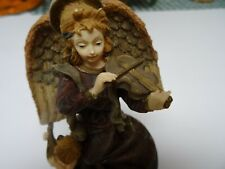 Antique Angel Playing A Violin With A Child Porcelain Music Box