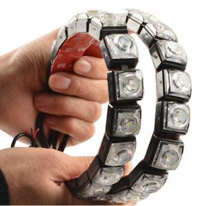 2 piezas LED coche automóvil DRL luz  de tira de coche impermeable Flexible